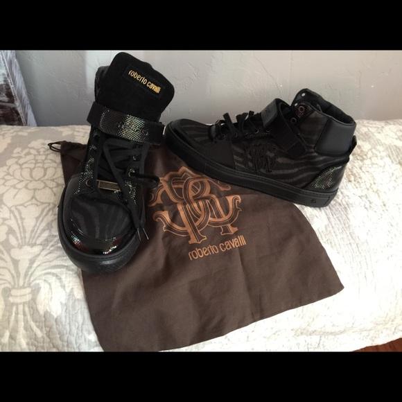 e173ff87584 Roberto cavalli high top shoes
